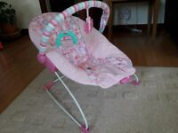 Chad Valley Deluxe Pink Baby Bouncer Chair
