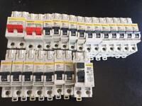 Square D MCB Main switch and fuses