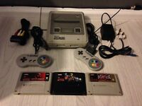 Super Nintendo snes console and game bundle