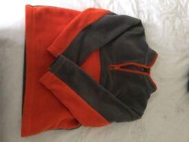 3-4 Mothercare orange and grey fleece