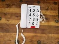 Logik corded big button hearing speaker phone
