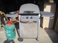 Gas barbecue and gas bottle