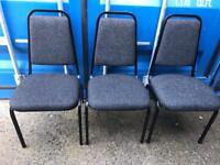 3 stacking office chairs with FREE DELIVERY PLYMOUTH AREA