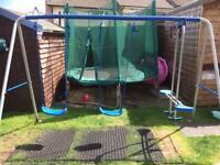 Triple swing set