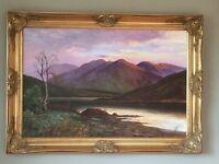 Large Framed Oil Painting - Landscape Scene (1 of 2)