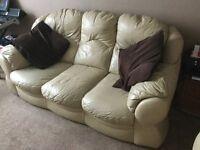 Leather 3 Piece suite (Cream)