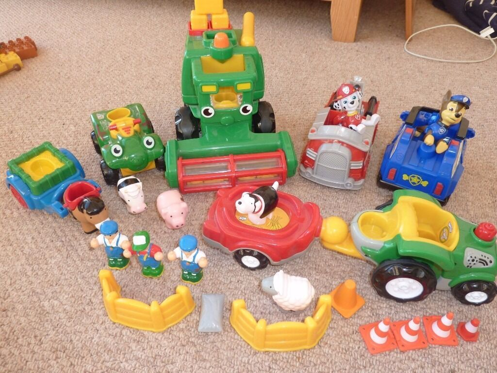 Large bundle of Kids Paw Patrol and WOW Toys excellent condition