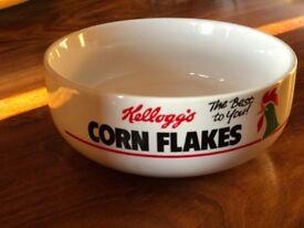 rare Kelloggs corn flakes cereal bowl 1987