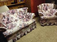 NEW PRICE - Love seat and chair