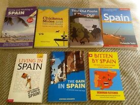 Various books about living in Spain