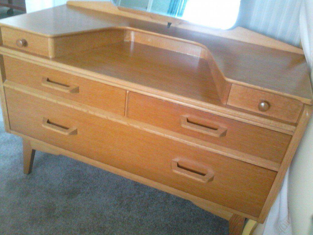 Mr Graeme Elson 1950s G Plan Brandon Retro Golden Oak Bedroom Furniture