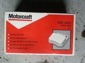 Front Ford Brake Pads newKA 1.3 Endura 09/96-02/00/Fiesta 3&5 Door Saloon/Van, (+) Solid 08/95-02/00