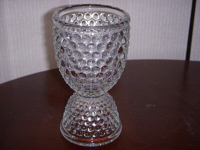 "WESTMORELAND Glass   ""HOBNAIL""         EGG CUP"