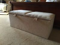 Padded hope chest/end of bed storage box