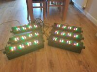 6 x LED Stage Bar 16 Surround/up lighters DJ Disco lights