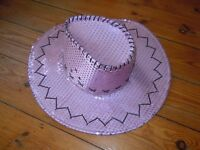 Pink sequin cowboy hat