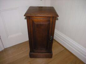 Antique Victorian Dark Wood Polished Free Standing Bedside Cabinet