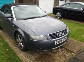 Great condition Audi A4 convertable 1.8 t semi automatic,touch screen dvd/cd player,satnav,aux/mp3