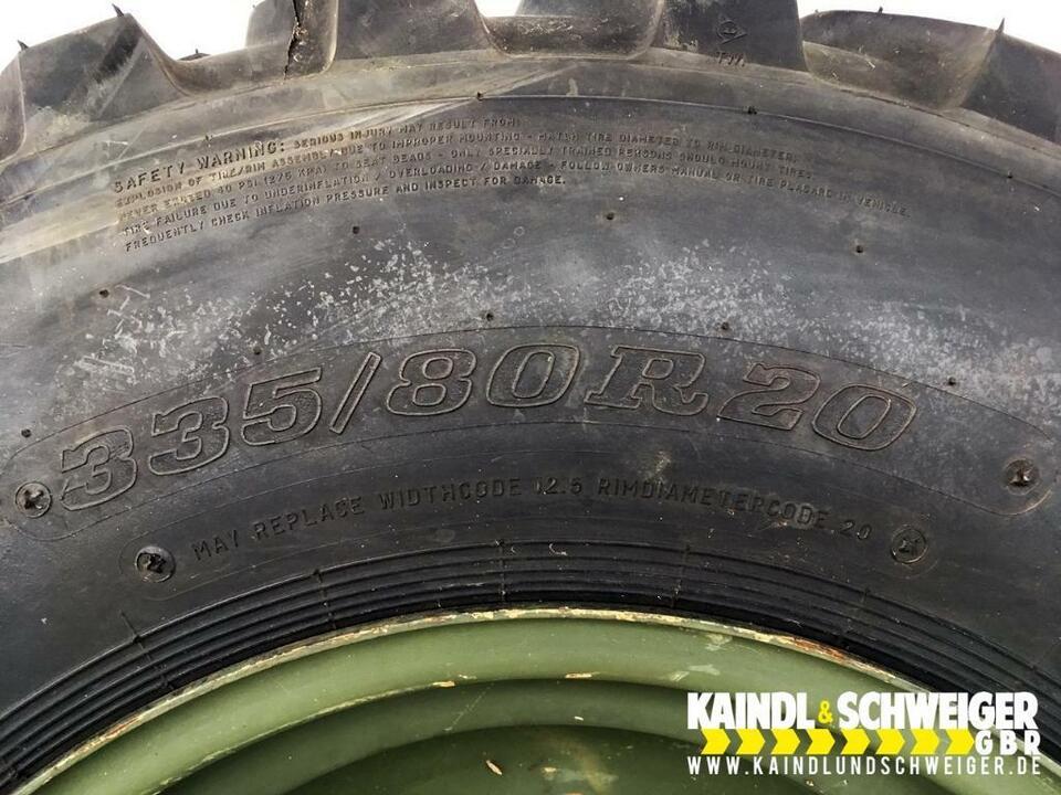 4 Radladerreifen 335/80R20 12.5R20 12.5-20 Dunlop SP T9 mit Felge in Moosburg a.d. Isar