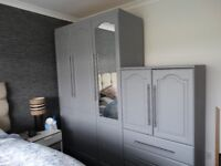 wardrobes with side drawers and cubard
