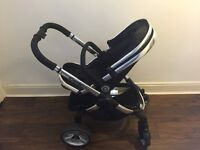 Icandy peach 2 - good condition, pushchair, carry cot, car seat adaptors, foot miff and rain cover