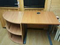Office desk and shelf