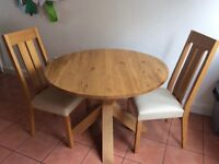 Next dining table and 2 chairs
