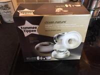 Tommie Tippee Electric Breast Pump, 2 sealed unused 0m Bari flow tears & FREE milk storage bags