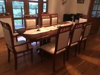 Dining table and side cabinet