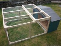 rabbit/guinea pig shelter and run