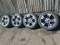 "Genuine 17"" Alloy wheels BMW 5x120"