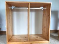 Ikea Trofast Pine Storage Unit / Wardrobe with two rails