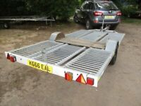 12-0 X 6-0 GALVANISED STEEL (BRAKED) FLATBED TRAILER....