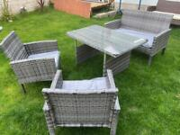 Rattan outdoor dining set - brand new