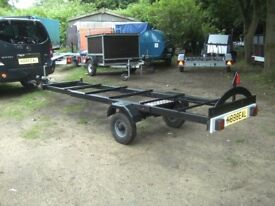 GOODS / BOAT / KAYAK / CANOE ETC TRAILER ADJUSTABLE BED LENGTH 9FT-15FT..