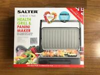 BRAND NEW SALTER HEALTH GRILL & PANINI MAKER