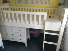 Childrens Mid Height Cabin Bed