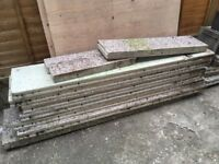 Concrete shed slabs