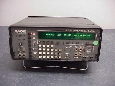 Sage Instruments 930a Communications Test Set Passes Self Test