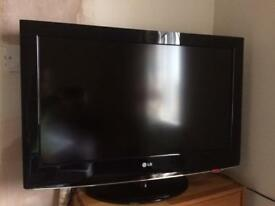 "LG 32"" HD ready 1080p LCD TV with remote control"