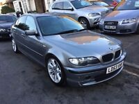 BMW 330D SE DIESEL AUTOMATIC 2003 SALOON FULL HISTORY SAT NAV FULL LEATHER LONG MOT