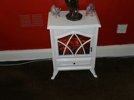 white electric fire