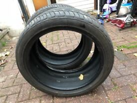245 40 r18 tyres nearly new 6.5 mm