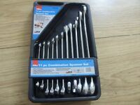 Hilka 11pc Metric Combination Spanner Set - Great Condition