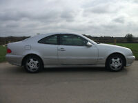 Mercedes Benz CLK200 komp elegance auto in silver with charcoal trim. Drives beautifully.