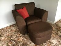 2 seater sofa, chair and footstool