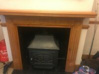 Stove / Wood burner effect gas fuelled fire with surround