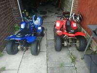 2 aeon 50cc quadbikes