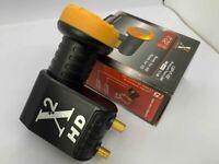 Twin LNB 2 Way DIGITIAL FULL HD Universal LNBF KU-BAND TV Sat 0.1db, UHD, 4K, 3D