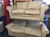 NEW / EX DISPLAY DFS Mink 3 + 2 Seater Sofas